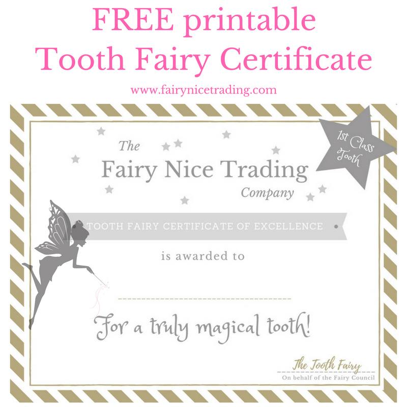 Juicy image throughout free printable tooth fairy certificate